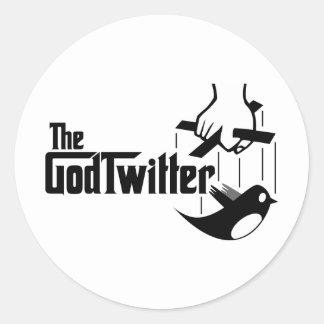 Das GodTwitter Runder Aufkleber