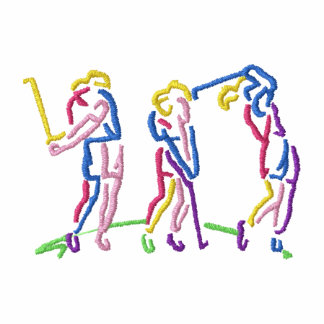 Das Golf-Reihenfolge der Frauen Besticktes Polo