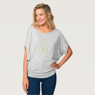Das Grau der Sun-Friedensfrauen drapieren T - T-Shirt