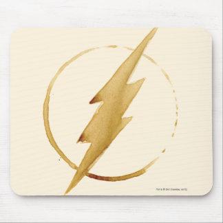 Das grelle   gelbe Kasten-Emblem Mauspad