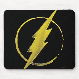 Das grelle   gelbe Kasten-Emblem Mauspads