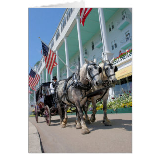 Das großartige Hotel - Mackinac Insel, Michigan Grußkarte