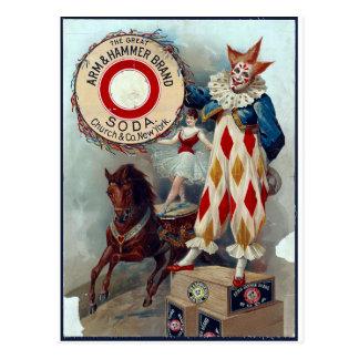 Das großer Arm-u. Hammer-Marken-Soda Postkarte