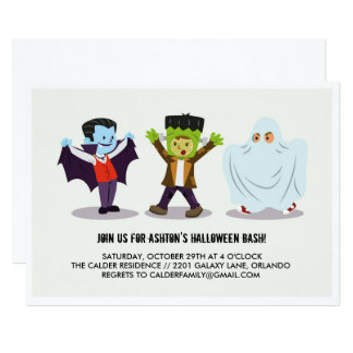 Das Halloween-Schlag-Party Einladung des Kindes