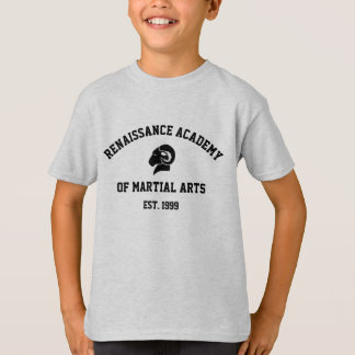 Das Hanes der Kinder grauer Retro RAM T - Shirt