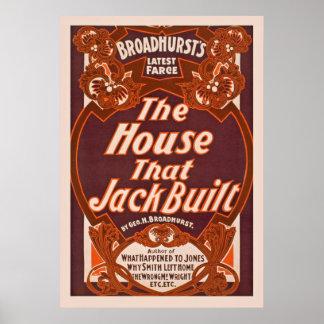 Das Haus, dass Jack Vintage darstellende Künste Poster
