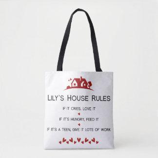 Das Haus-Regeln der Lilie Tasche