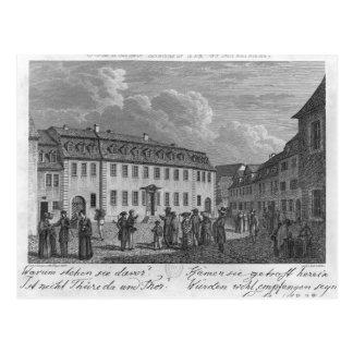 Das Haus von Johan Wolfgang von Goethe herein Postkarte