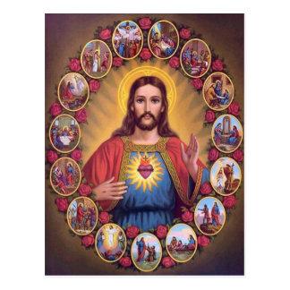 Das heilige Herz von Jesus Postkarte