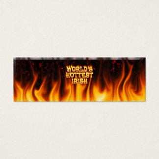 Das heißeste irische Feuer der Welt und das Mini Visitenkarte