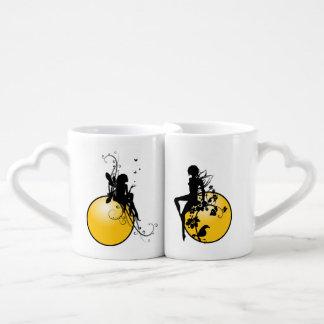Das Herz-Kaffee-Tassen-Set der Liebhaber Liebestasse