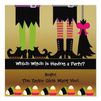 Das Hexe-Halloween-Geburtstags-Party laden ein Karte
