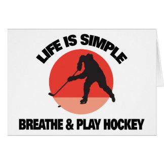 Das Hockey-Leben ist einfach Grußkarte