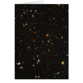 Das Hubble ultra tiefe Feld-Raum-Bild Karte