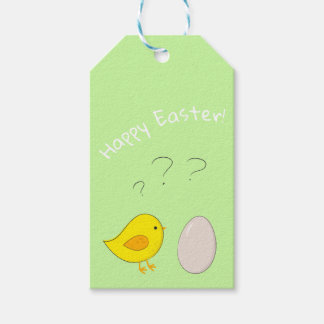 Das Huhn oder der Ei niedliche Ostern-Cartoon Geschenkanhänger