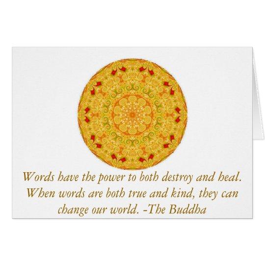 Das inspirierend Buddha-Klugheitszitat motivieren Karte