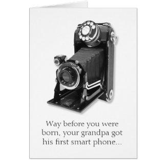 Das intelligente Telefon-lustige Geburtstags-Karte Karte