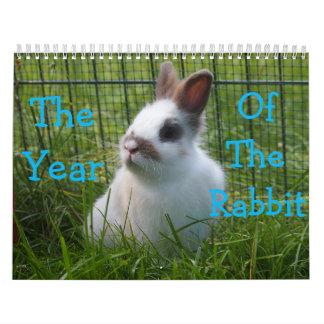 Das Jahr des Kaninchen-Kalenders Kalender