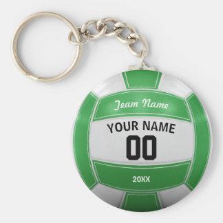 Das jahr-Team-Grün des Volleyball-Spielers Namens Standard Runder Schlüsselanhänger