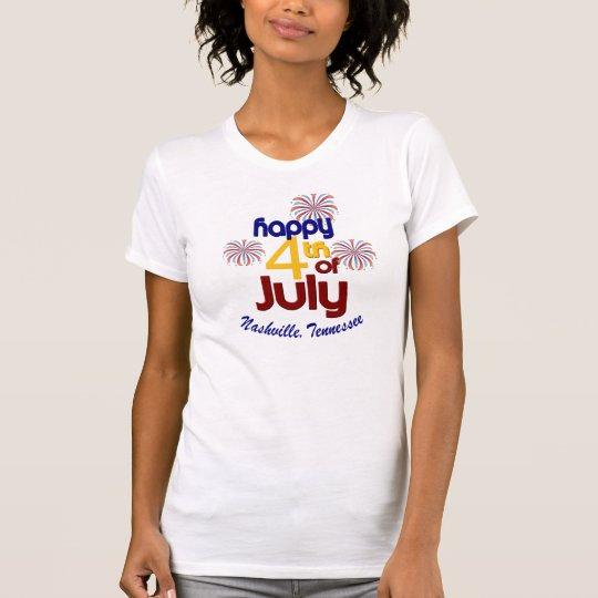 Das Jersey-T - Shirt glücklicher am 4. Juli Frauen