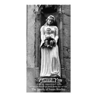 Das Jungfrau-und des Kind3 Beileid danken Ihnen Fotokartenvorlage