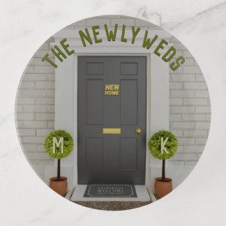 Das Jungvermählten-neue Zuhause-Haus befestigt Dekoschale