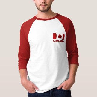 Das Kanada-Flaggen-Baseball-Jersey-Andenken-Shirt T-Shirt