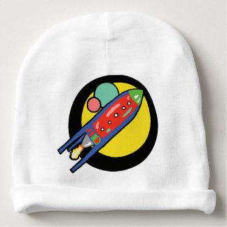 Das Kaninchen-Haut-Kappe des Rocket-Schiffs-Babys Babymütze
