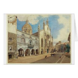 Das Kathedralen-Quadrat in Como durch Rudolf von Grußkarte