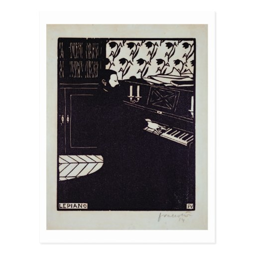 Das Klavier, 1914 (Holzschnitt) Postkarten