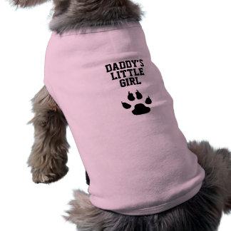 Das kleine Mädchen des lustigen Hundevatis T-Shirt