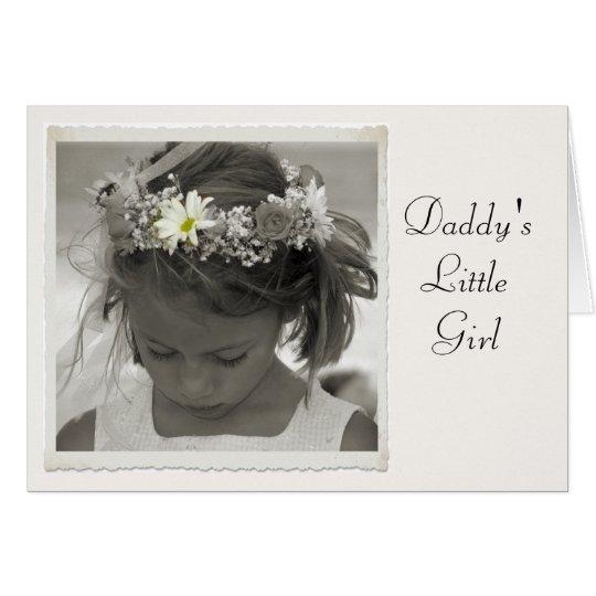 Das kleine Mädchen des Vatis Karte