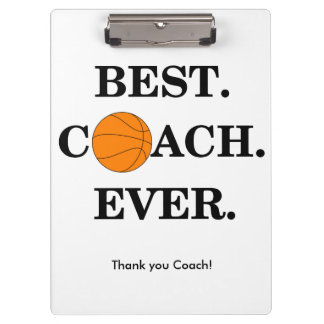 Das Klemmbrett des Basketball-Trainers