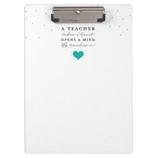 Das Klemmbrett des Lehrers