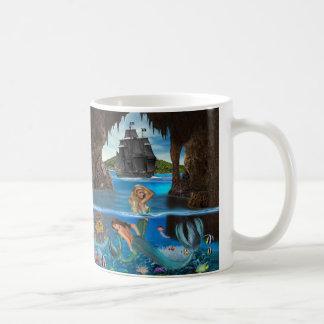 Das Korallenriff-Schatz der Meerjungfrau Kaffeetasse