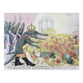 Das korsische Krokodil Postkarte