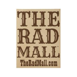 """Das krasse Mall-""""Western-"""" Logo-Plakat Holzposter"""