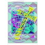 Das Kreuz und die Fische Grußkarte