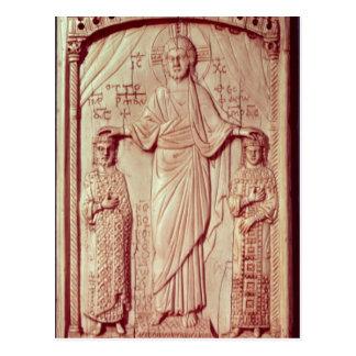 Das Krönen von Otto II und Theophrano Postkarte