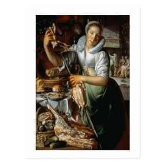 Das Küchen-Mädchen (mit Christus, Mary und Martha) Postkarte