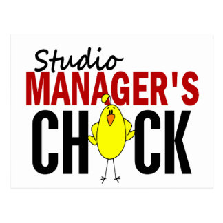 Das Küken des Studio-Managers Postkarte