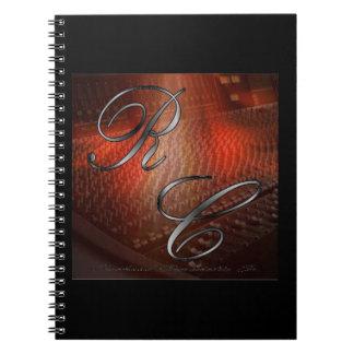 Das Künstler-Logo-Foto-Notizbuch (80 Seiten B&W) Spiral Notizbücher