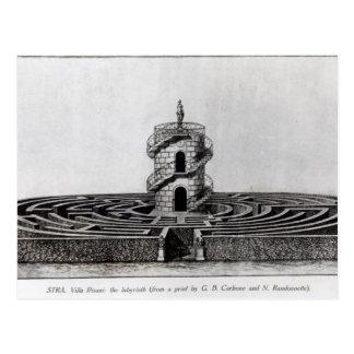 Das Labyrinth des Landhauses Pisani bei Stra, nach Postkarte