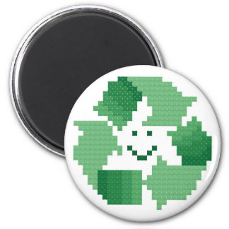 Das Lächeln recyceln Symbol-Magneten Runder Magnet 5,1 Cm