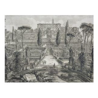 Das Landhaus d'Este bei Tivoli (Stich) Postkarte