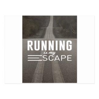 Das Laufen ist mein Entweichen Postkarte