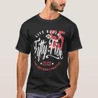 Das Leben fängt bei 55% pipe% 55. Geburtstag an T-Shirt