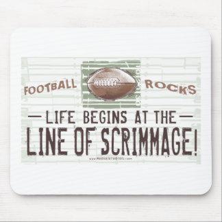 Das Leben fängt bei Line of Scrimmage an! Mousepad