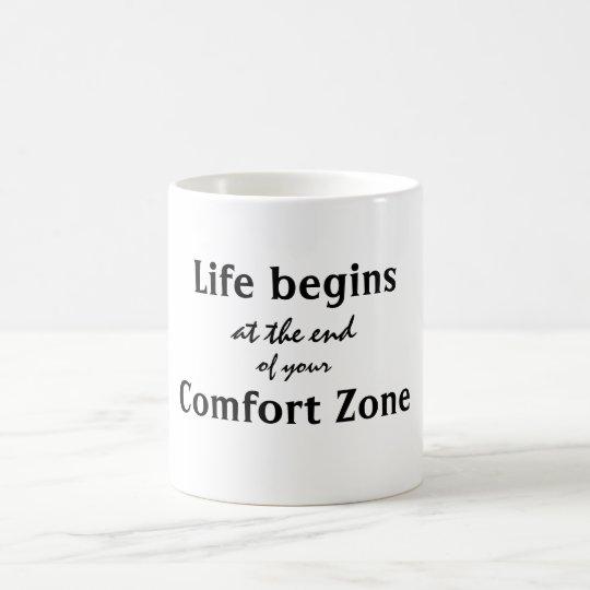 Das Leben fängt Kuschelecke-Zitat an Tasse