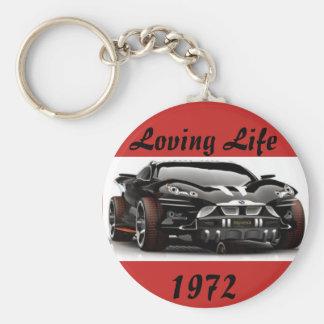 Das Leben-Geburts-Jahr-Schlüsselkette des Mannes Schlüsselanhänger